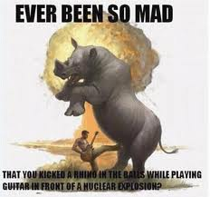 Comedy Anger Management Austin: Have your ever been so mad that you kicked a rhino in the balls while playing guitar in front of a nuclear explosion?